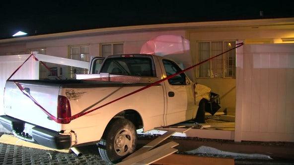 No injuries after truck slams into Treasure Island motel