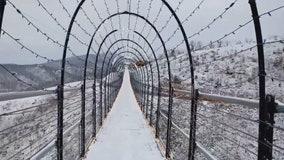 Gatlinburg's SkyBridge dusted with snow to create 'winter wonderland'