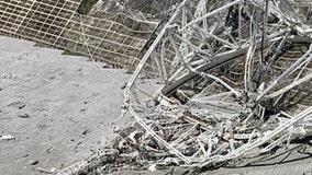 Damaged Arecibo radio telescope in Puerto Rico collapses