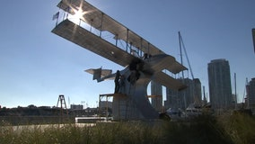 St. Pete monument honors world's first commercial flight, which took place in the Sunshine City