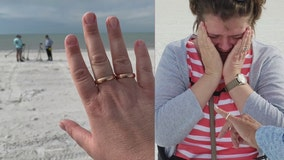Ring finders club returns lost wedding band to vacationing couple