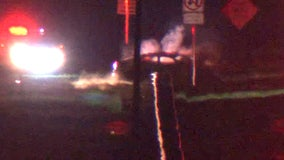 One person injured in fiery crash on I-4