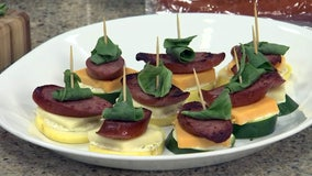 Holiday appetizer recipe: Sausage-zucchini stackers