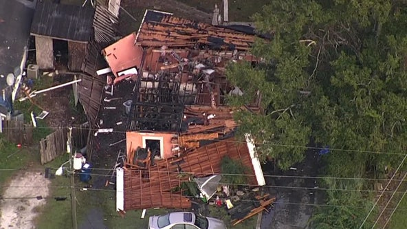 Manatee County home explodes injures father and son, firefighter