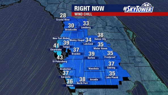 Bundle up: Coldest temperatures of the season arrive in Tampa Bay area