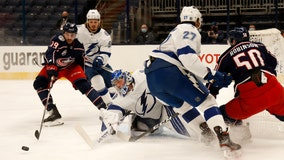Hours after Dubois trade, Blue Jackets beat Tampa Bay Lightning 5-2