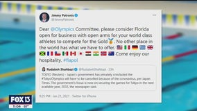 Florida CFO offers Sunshine State as backup if Japan pulls out of summer Olympic games