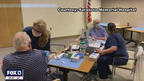Sarasota Memorial Hospital administers first round of vaccines to people over weekend