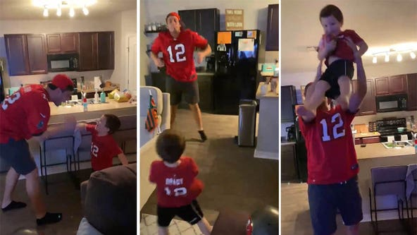 Lakeland father and son celebrate in living room as Bucs claim Super Bowl spot