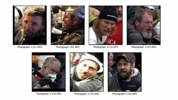 FBI releases photos of suspects wanted in attack on DC cop during Capitol riot