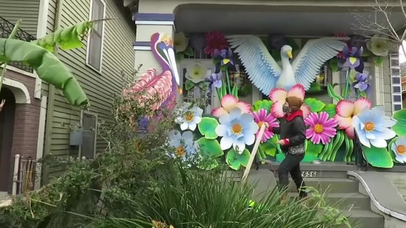 With Mardi Gras parades canceled, New Orleans residents make 'house floats' to celebrate