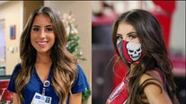 Buccaneers cheerleader trades poms for scrubs as nurse at Tampa General Hospital