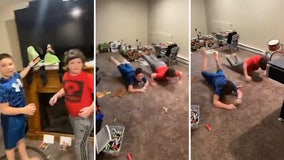 Brothers bust out celebratory 'worm' after being surprised with trip to Disney World