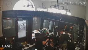 Video captures moment barber falls onto scissors in 'freak accident'