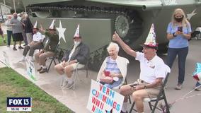 World War II veterans honored with a drive-thru birthday parade in Dunedin