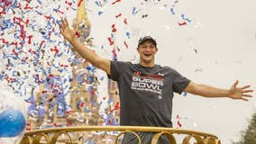 Rob Gronkowski visits Disney World after Super Bowl win