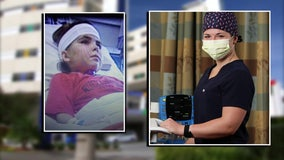 St. Petersburg nurse working side-by-side with medical professionals who saved her as a child