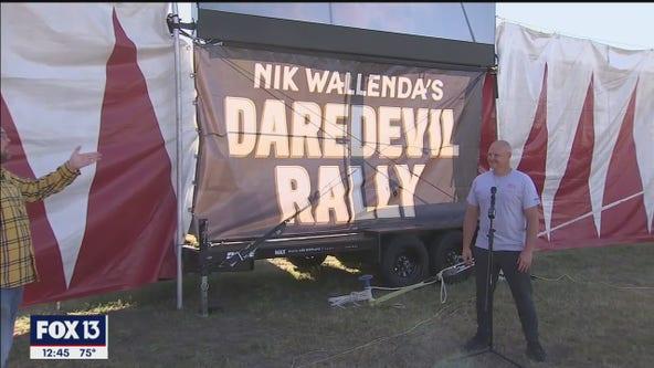 Nik Wallenda brings Daredevil Rally Drive-in Thrill Show back home
