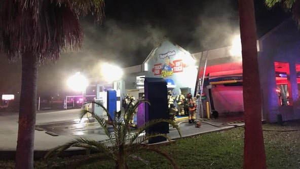 Fire damages Spring Hill car wash