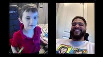 Tampa boy forgets cancer for a day to talk superheroes with Mike Evans