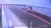 Video appears to show biker jumping over rising drawbridge in Daytona Beach