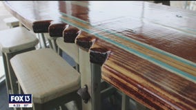 Made in Tampa Bay: Surfboard tables from Coastal Flow Furniture