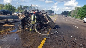 Fiery RV crash closes I-75 lanes in Pasco County