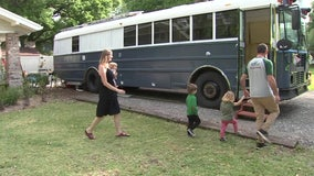 Seminole Heights family trades corporate world to live 'off the grid' in refurbished school bus