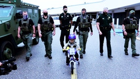 4-year-old cancer patient with hopes of 'catching bad guys' becomes honorary Manatee County deputy