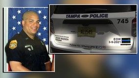 Memorial patrol vehicle emblems unveiled as TPD prepares to lay fallen officer to rest