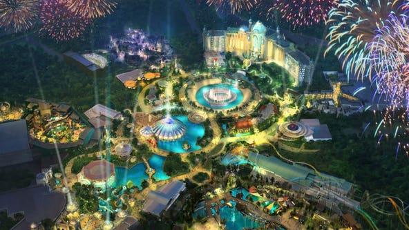 Construction resumes on Universal Orlando's Epic Universe