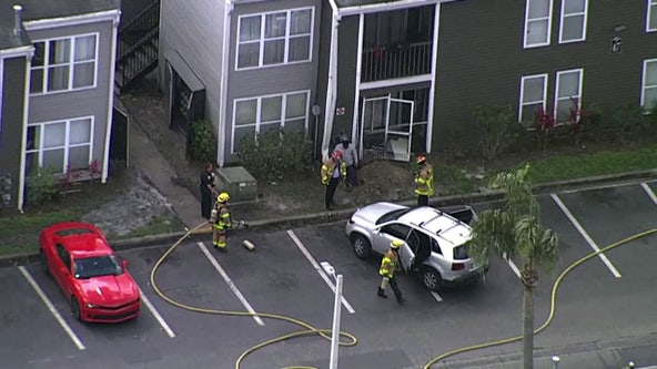 University-area apartments evacuated after crash causes gas leak