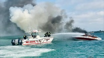 9 rescued after boat catches fire in Sarasota, police say