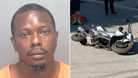 Stepfather without license arrested after motorcycle crash injures baby held in his lap, police say