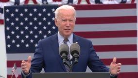 President Biden marks 100th day in office in Georgia pushing new spending plan