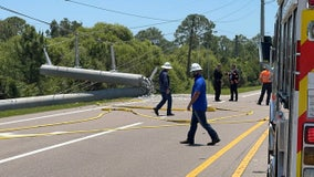 Deadly crash knocks out power to residents in southern Sarasota County