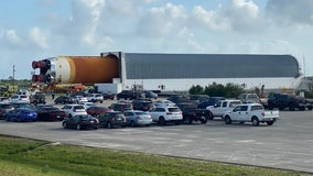 NASA's SLS rocket moves to Vehicle Assembly Building