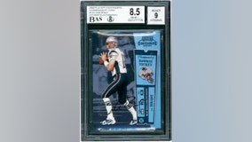 Tom Brady rookie football card sold for $2.25M at auction