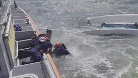 Man rescued near Pine Key Island after catamaran capsizes