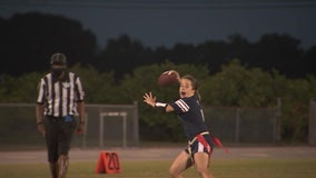 Newsome snaps Durant's flag football win streak as both teams roll into District tournaments