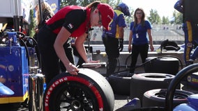 Road to success wasn't easy for woman behind the wheels of the Firestone Grand Prix