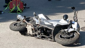 Police: Motorcycle crash seriously injures baby being held on stepfather's lap