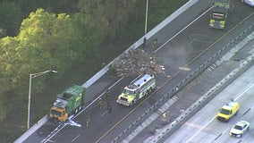 I-75 ramp from I-4 closed due to trash fire