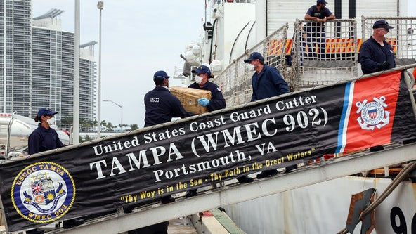 USCG Cutter Tampa snags nearly $100M in cocaine off Colombian coast