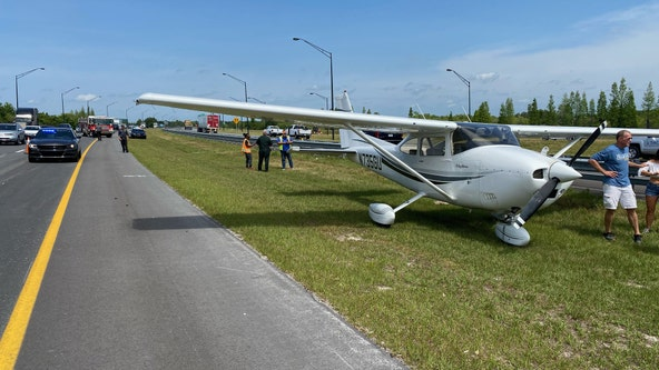 No injuries reported after plane lands on Polk Parkway