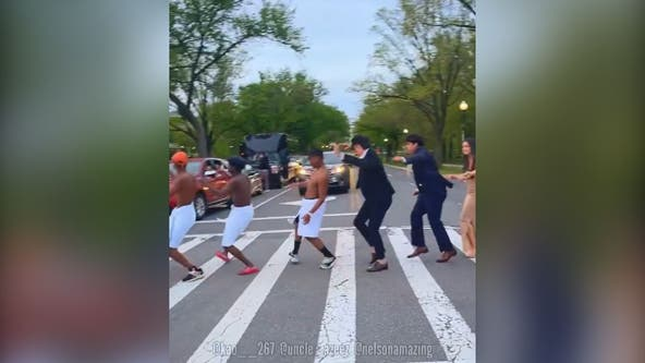 DC crosswalk transforms into dance floor as group entertains drivers