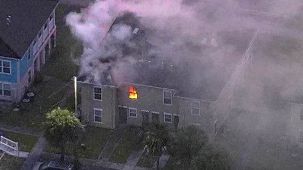 Tampa building catches fire