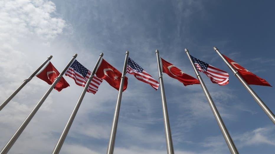 U.S. Vice President Mike Pence arrives is Turkey