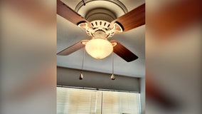 Woman wakes up to blood dripping on her from apartment ceiling fan