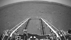 China's Zhuron Mars rover sends back first images